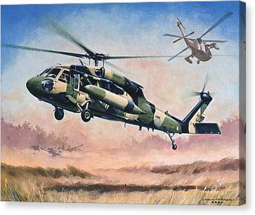 'blackhawk Manoevours' Canvas Print