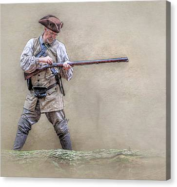 Blackpowder Woodsman Version Two Canvas Print by Randy Steele