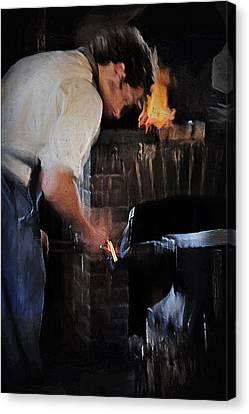 Blacksmith 2 - Pioneer Village Canvas Print by Steve Ohlsen