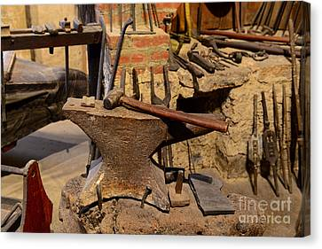 Blacksmith - Anvil And Hammer Canvas Print