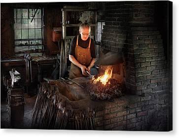Blacksmith - Blacksmiths Like It Hot Canvas Print by Mike Savad
