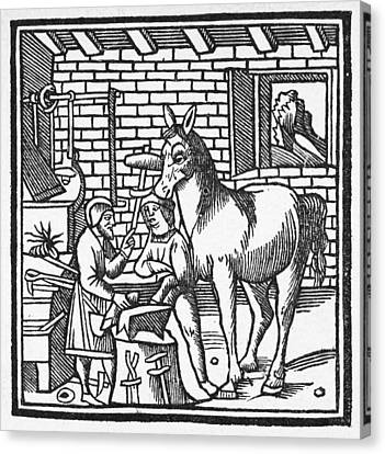 Blacksmith, C1250 Canvas Print by Granger