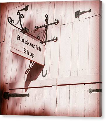 Canvas Print featuring the photograph Blacksmith Shop by Alexey Stiop