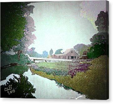 Blacksmith Shop On Sudbury River Canvas Print by Cliff Wilson