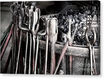 Blacksmith's Tools Canvas Print by Bob Zuber