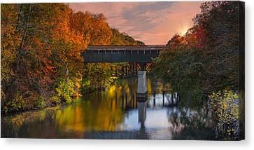 Blackstone River Bridge Canvas Print