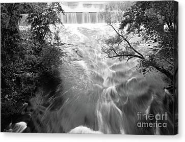 Blackstone River Dam At Manville Canvas Print