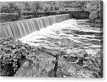 Blackstone River Dam Manville Rhode Island Canvas Print