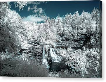 Canvas Print featuring the photograph Blackwater Falls In Ir by Guy Whiteley