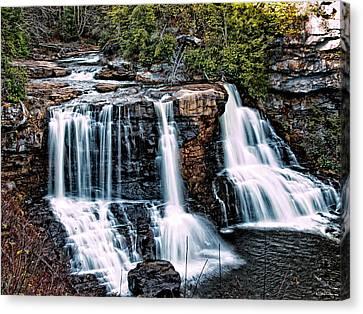 Blackwater Falls, West Virginia Canvas Print by Skip Tribby