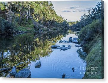 Blackwood River Rocks, Bridgetown, Western Australia Canvas Print by Elaine Teague