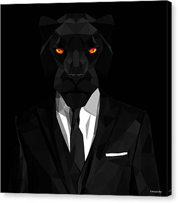 Blacl Panther Canvas Print