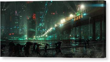 Blades Canvas Print - Blade Runner Blues by Saul Espinosa