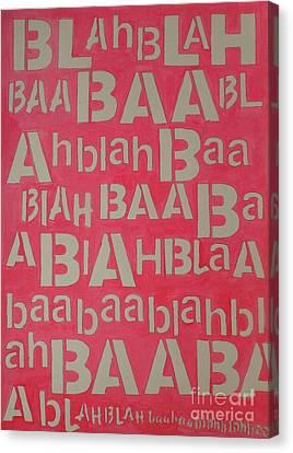 Canvas Print - Blah Blah Baa by Ricky Sencion