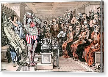 Blaine Cartoon, 1884 Canvas Print by Granger