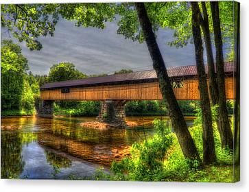 Blair Bridge - Campton Nh Canvas Print