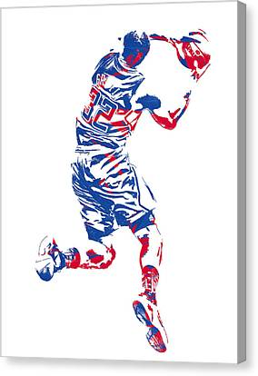Los Angeles Clippers Canvas Print - Blake Griffin Los Angeles Clippers Pixel Art 20 by Joe Hamilton