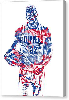 Los Angeles Clippers Canvas Print - Blake Griffin Los Angeles Clippers Pixel Art 30 by Joe Hamilton