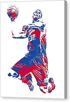 Los Angeles Clippers Canvas Print - Blake Griffin Los Angeles Clippers Pixel Art 32 by Joe Hamilton