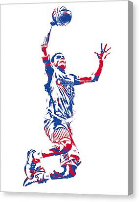 Los Angeles Clippers Canvas Print - Blake Griffin Los Angeles Clippers Pixel Art 33 by Joe Hamilton