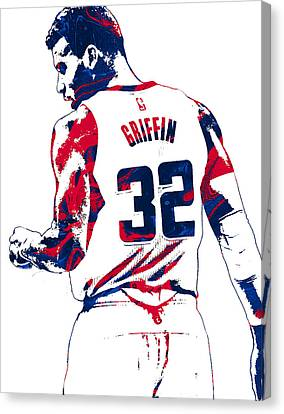 Free Canvas Print - Blake Griffin Los Angeles Clippers Pixel Art 4 by Joe Hamilton