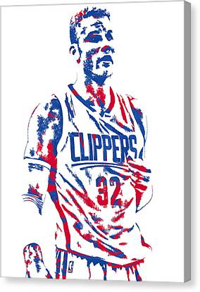 Los Angeles Clippers Canvas Print - Blake Griffin Los Angeles Clippers Pixel Art 6 by Joe Hamilton