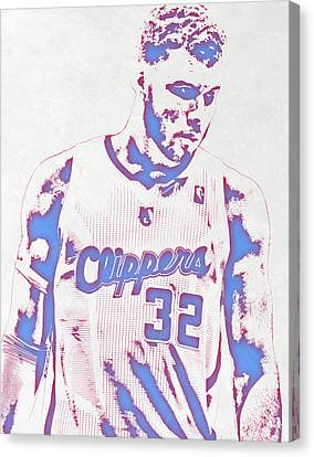Los Angeles Clippers Canvas Print - Blake Griffin Los Angeles Clippers Pixel Art by Joe Hamilton