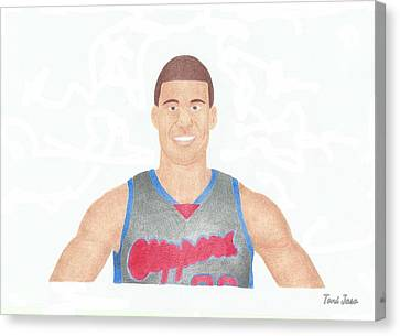 Blake Griffin Canvas Print by Toni Jaso
