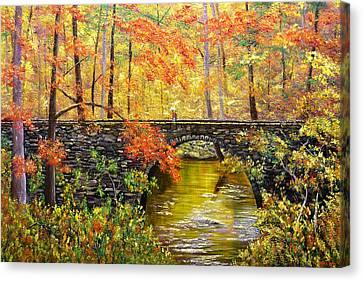 Blanchard Springs Arkansas Canvas Print by Connie Tom