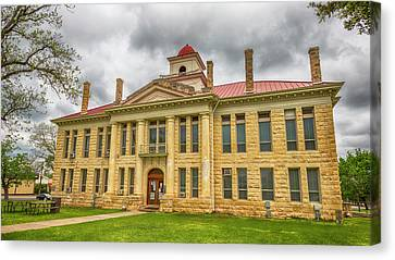 Blanco County Tx Courthouse  Canvas Print by Stephen Stookey