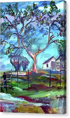 Blanco Texas Ranch House Canvas Print
