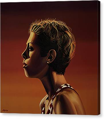Blanka Vlasic Painting Canvas Print by Paul Meijering