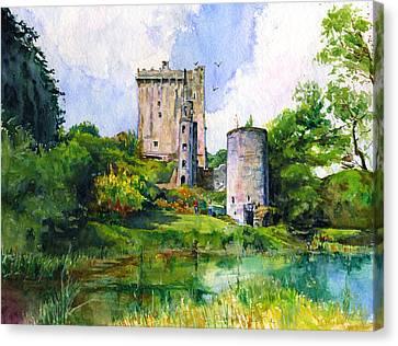 Blarney Castle Landscape Canvas Print by John D Benson