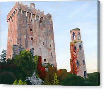 Canvas Print featuring the painting Blarney Castle by Lynne Reichhart
