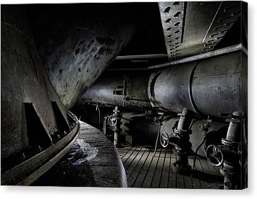 Canvas Print featuring the photograph Blast Furnace Piping by Dirk Ercken