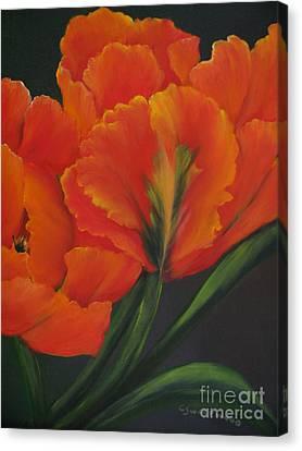 Blaze Of Glory Canvas Print by Carol Sweetwood