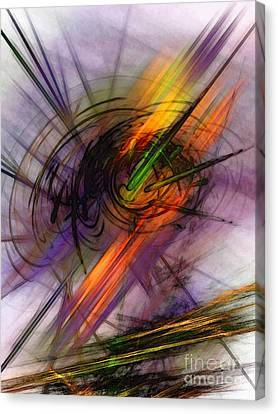 Blazing Abstract Art Canvas Print