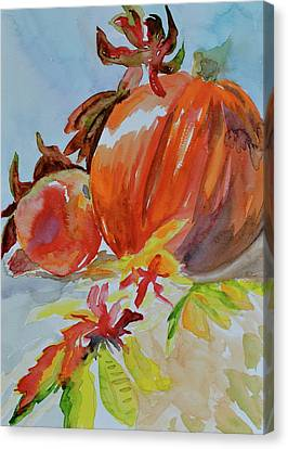 Canvas Print featuring the painting Blazing Autumn by Beverley Harper Tinsley