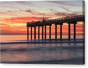 Blazing Sunrise Canvas Print