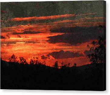 Blazing Sunset Canvas Print by Dorothy Berry-Lound