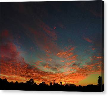 Canvas Print featuring the photograph Blazing Sunset by Mark Blauhoefer