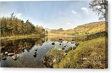 Blea Tarn Panorama Canvas Print by Nichola Denny