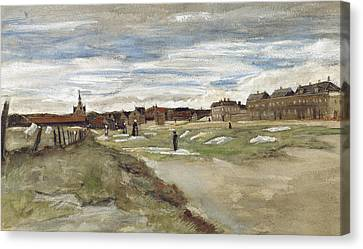 Dutch Landscapes Canvas Print - Bleaching Ground At Scheveningen by Vincent van Gogh