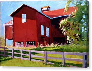 Bleak House Barn No. 3 Canvas Print by Catherine Twomey
