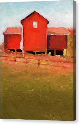 Bleak House Barn No. 4 Canvas Print by Catherine Twomey