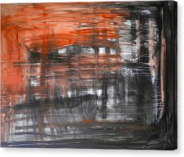Bleeding Through Canvas Print by Dylan Chambers