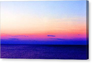 Canvas Print featuring the digital art Blend Above The Lake 233 by Lyle Crump