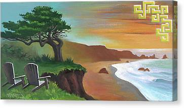 Canvas Print featuring the painting Blessed by Dave Platford