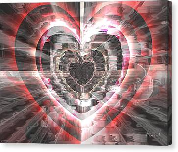Canvas Print featuring the glass art Blessed Heart by Fania Simon