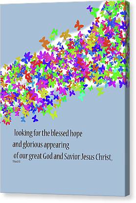 Blessed Hope Canvas Print by Kate Farrant